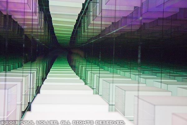 Paul Kolker hypercube forever, 2013 - Copyright 2013 Paul Kolker. All Rights Reserved. Contemporary Art Light Sculpture