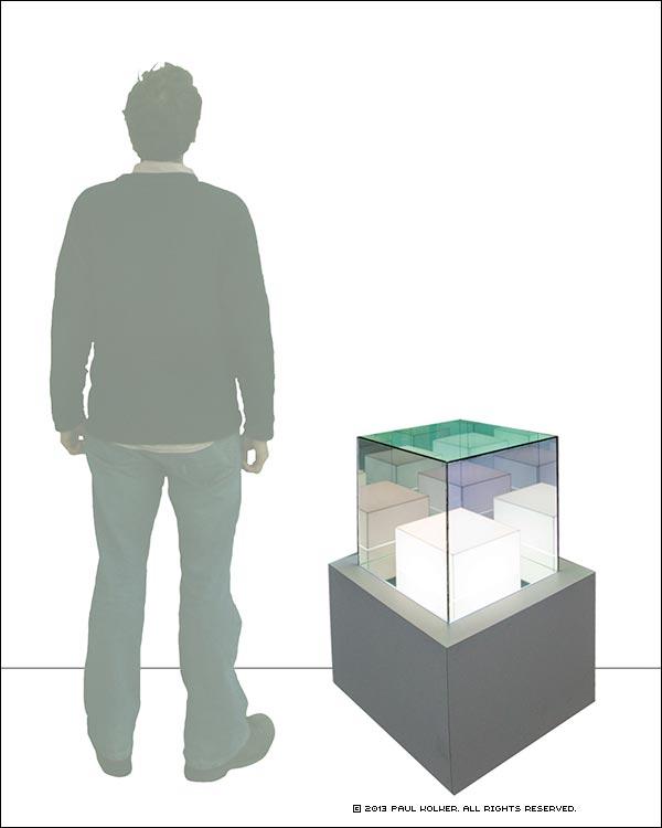 Paul Kolker hypercube forever, 2013 Relative Sizing- Copyright 2013 Paul Kolker. All Rights Reserved.