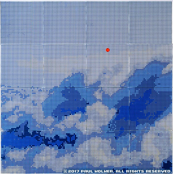 Paul Kolker: cumulonimbus bleu, 2009 - © 2017 Paul Kolker. All rights reserved. Contemporary Artist NYC